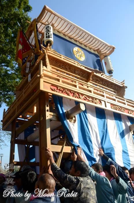 喜多川中だんじり(屋台) ご殿前