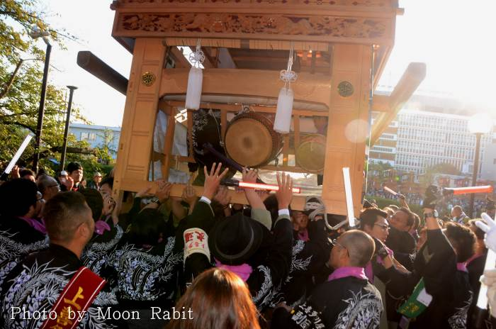 上喜多川屋台(だんじり) ご殿前 西条祭り