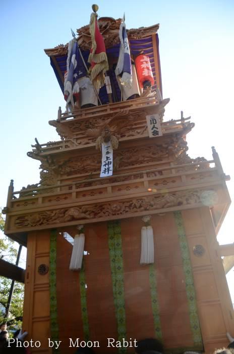 上神拝屋台(だんじり) ご殿前 西条祭り