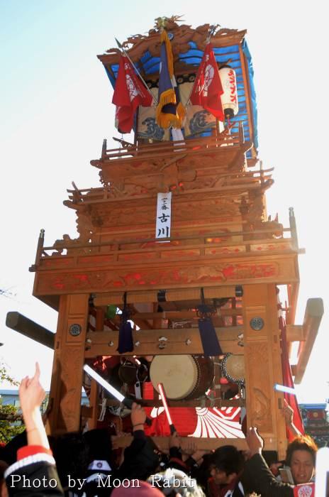 古川屋台(だんじり) ご殿前 西条祭り