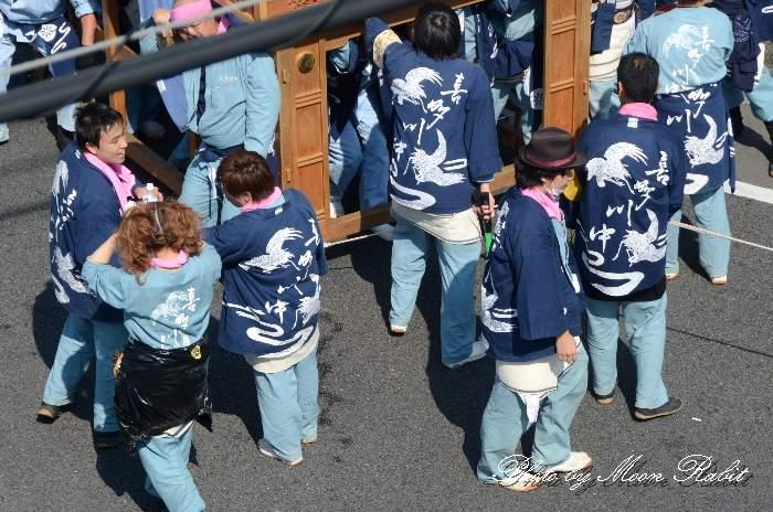 喜多川中だんじり(屋台) 祭り装束
