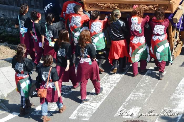 御所通りだんじり(屋台) 祭り装束