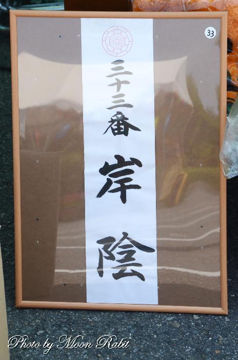 番号札 岸陰屋台(だんじり)