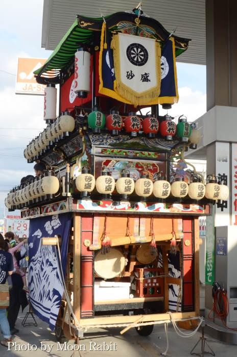 御所神社祭 砂盛町だんじり(屋台)