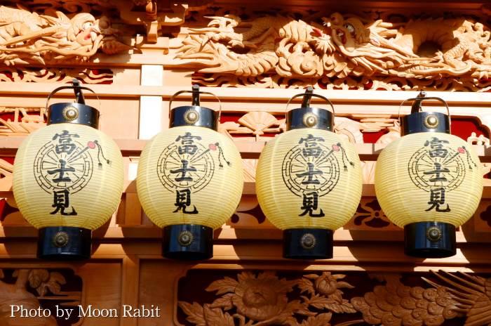 富士見町だんじり(屋台) 祭り提灯