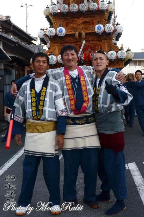 上神拝だんじり(屋台) 祭り装束 西条祭り