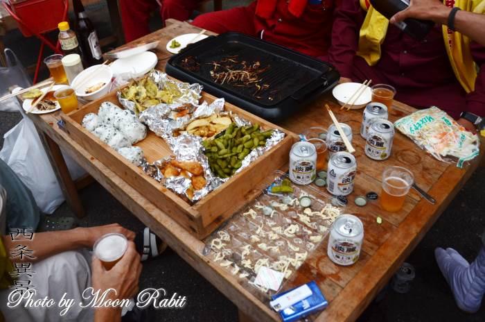 炊き出し 裏組屋台(だんじり)  前夜祭