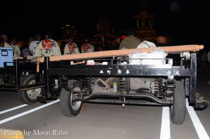 西町屋台(だんじり) 台車