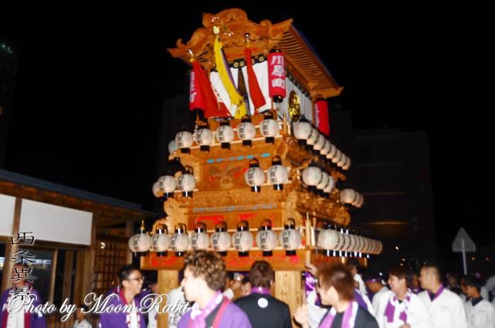 西条駅前前夜祭 川原町屋台(だんじり)