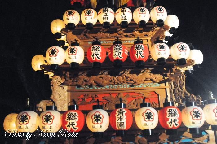 栄町上組屋台(だんじり) 祭り提灯