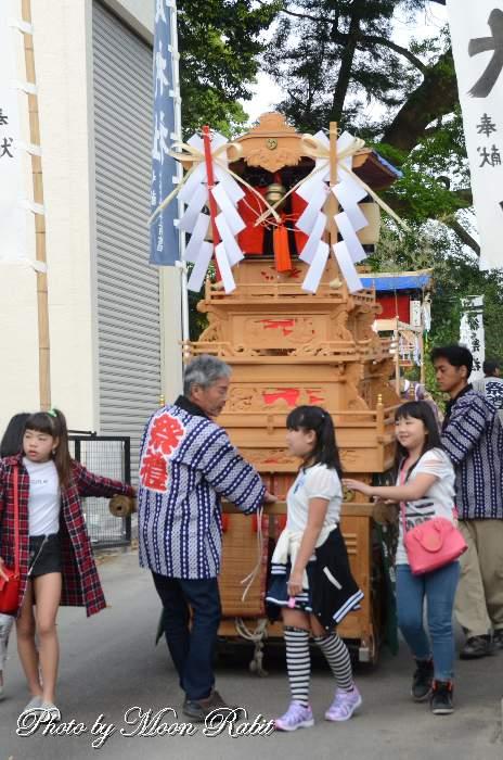 高尾神社春祭り 上之川子供屋台(だんじり