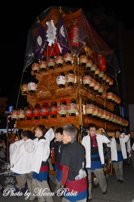 宵祭り 北之町上組屋台(だんじり)