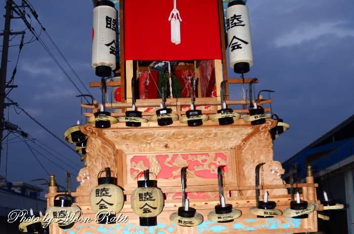 睦会だんじり(屋台) 祭り提灯