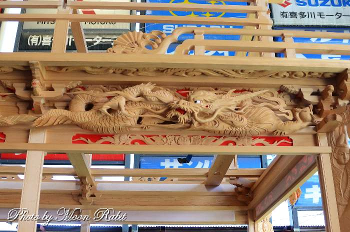 都町屋台(だんじり) 斗栱間・天井板