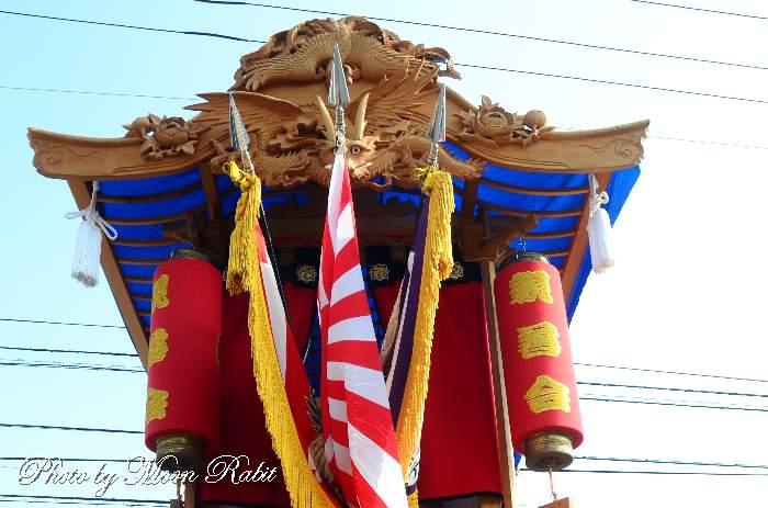 親善会だんじり(屋台) 祭り提灯 鶴岡八幡神社祭り 東予祭り 愛媛県西条市