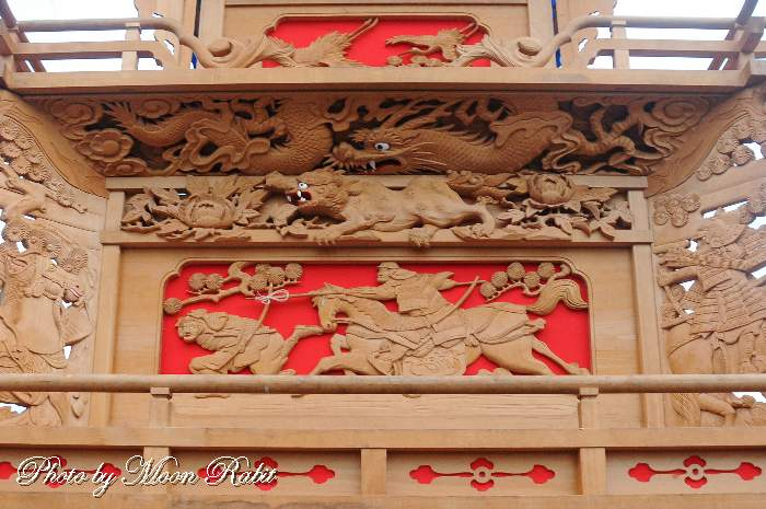 親善会屋台(だんじり) 支輪 鶴岡八幡神社祭礼