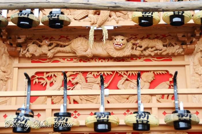 北条新田屋台(だんじり) 斗栱間(ときょうま)・天井板