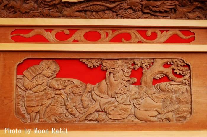 胴板彫刻・手摺 古町屋台(だんじり)