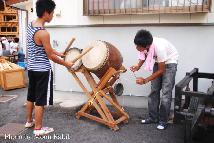 久保だんじり(屋台) 祭り太鼓