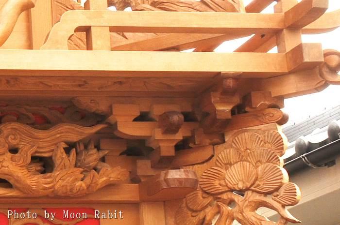 新御堂屋台(だんじり) 斗組・斗栱間・天井板