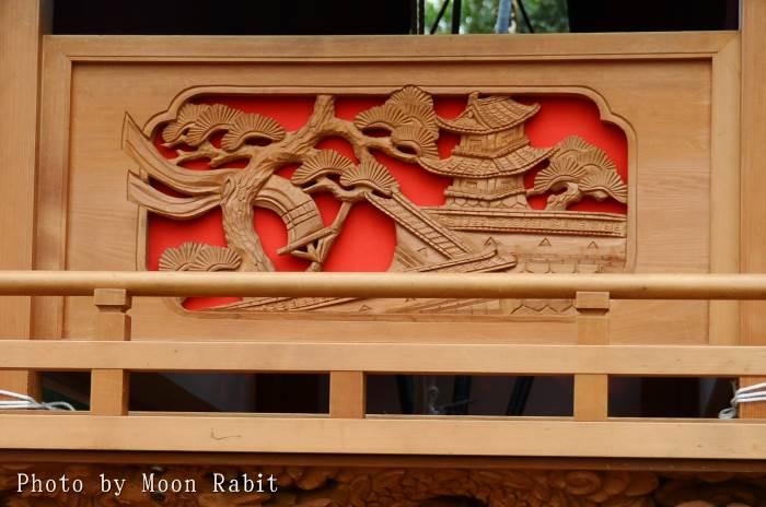 胴板彫刻・手摺 新御堂屋台(だんじり)