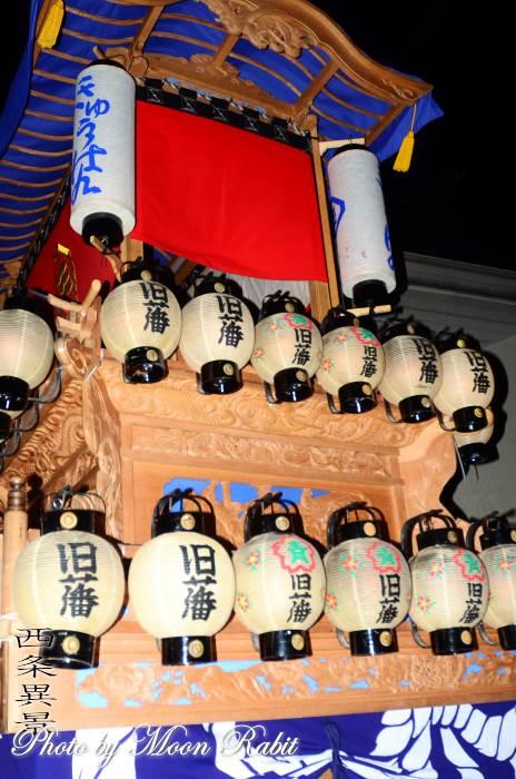 小松祭り 旧藩屋台(だんじり) 祭り提灯
