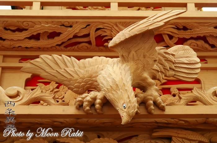 置き彫り 中常盤だんじり(屋台) 置彫り