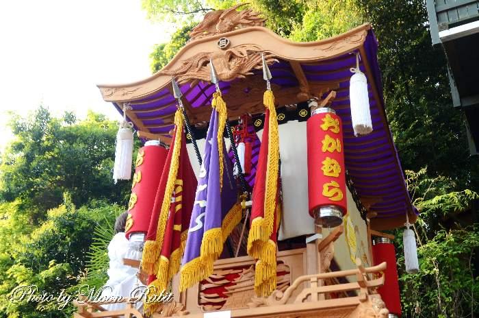 小松祭り 岡村屋台(だんじり) 祭り提灯