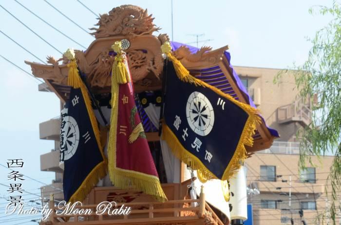 古川富士見町旗 富士見町屋台(だんじり) 西条祭り