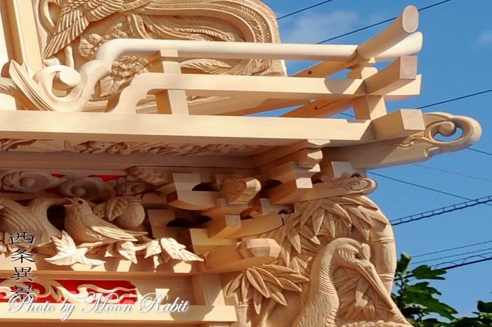 北之町中組屋台(だんじり) 斗組・斗栱間・天井板