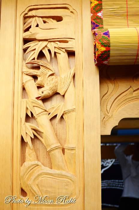 藪蚊の彫り 袖障子 薮之内だんじり(屋台)