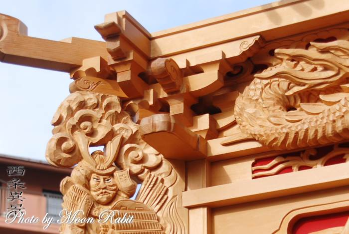 上神拝屋台(だんじり) 枡組・斗栱間・天井板