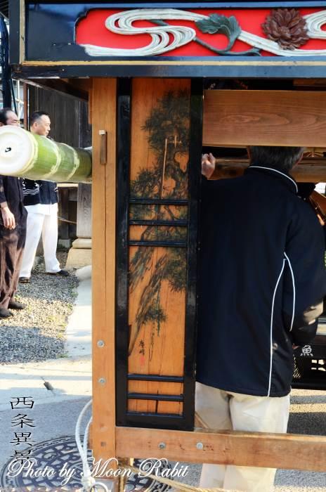 先代魚屋町屋台(だんじり) 袖障子・乳隠し