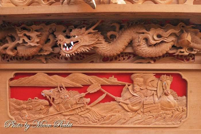 胴板彫刻・手摺 宮之下屋台(だんじり)
