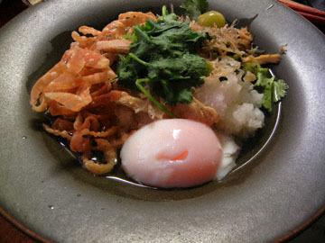 blog Dinner, Chinese Rice Porridge with Shirasu, Gyoza skin, Cilantro, Egg_DSCN3343-11.14.16.jpg