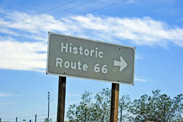 blog 11 Mojave Desert, Railway Trains & Route 66, CA|58W at the Clay Road, Road Sign