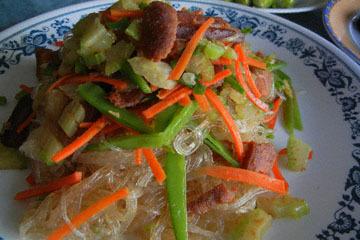 blog CP1 Cooking, Dinner, Karasumi & Harusame, Asparagus, Zuccini_DSCN4130-3.13.17.jpg