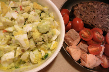 blog Cooking, Dinner, Egg Salad, Cherry Tomatoes & Poached Salmon_DSCN4170-3.20.17.jpg