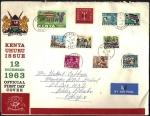 ケニア・独立後最初の切手のFDC