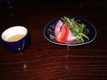 11/21 水菜のサラダとお茶  北條