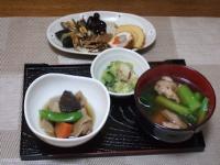 1/2 朝食 お雑煮、お節料理