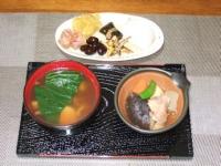 1/3 朝食 お雑煮、お節料理