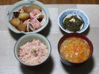 1/25 夕食 イカ大根、アカモク、まぐろの剝き身丼、ファイトケミカルスープ