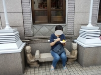 10/1 マンゴーかき氷を食べる  横浜中華街