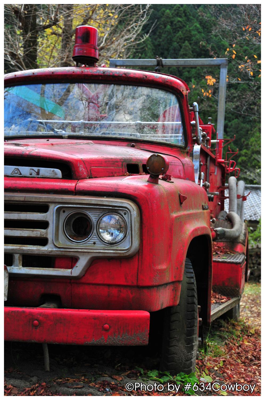 レトロな消防車 写真