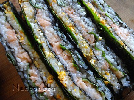 NANTONAKU 9-27 サーモンのたたきで寿司サンドをつくってみた 2