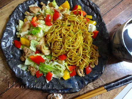 NANTONAKU 10-03 焼きそばは 麺と具を別々に炒めると 美味しい 1