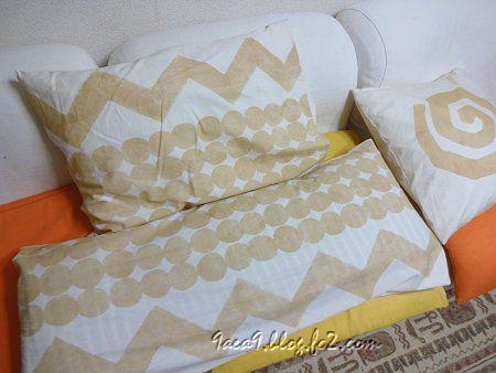 首ヘルニア対策枕 低くて柔らかい枕を手描き布で作ってみた