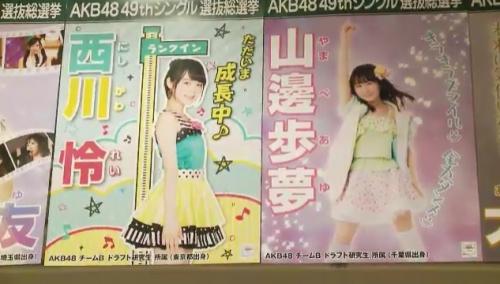 AKB48 49thシングル選抜総選挙_選挙ポスター_西川怜_山邊歩夢