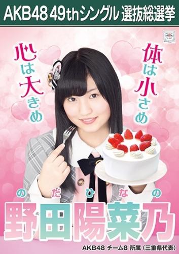 野田陽菜乃_AKB48 49thシングル選抜総選挙ポスター画像